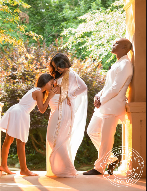 Tyrese Gibson and his pregnant wife bare nearly all in sexy maternity Shoot (Photos)