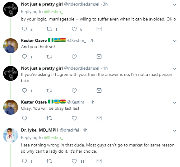 Man berated for saying single ladies that hate going to the market are shameless