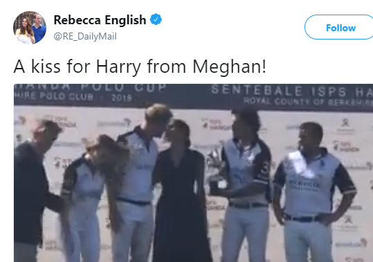 Prince Harry and Meghan Markle melt hearts as they kiss at the Sentebale Polo Match