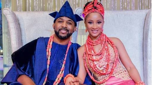 Adesua Etomi gushes over flowers her husband, Banky W bought for her