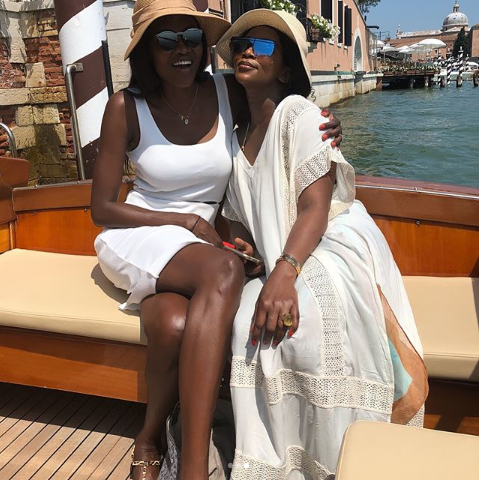 Genevieve Nnaji and Oluchi Onweagba vacation in style in Italy (photos)