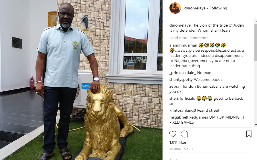 Dino Melaye shares first photo of himself after his