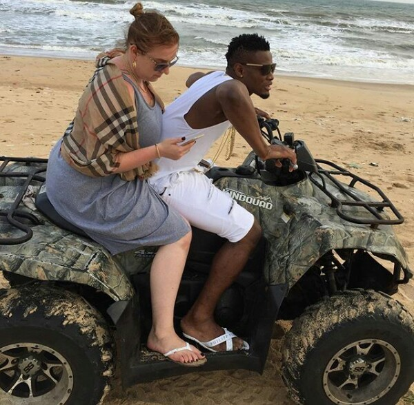 Nigerian footballer Chimezie Mbah thanks his Polish wife for giving him a baby boy