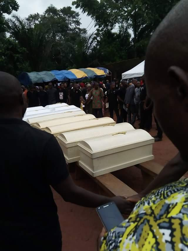 Photos: Redeemed Church pastor, his wife and five children killed in fatal accident, laid to rest amidst tears