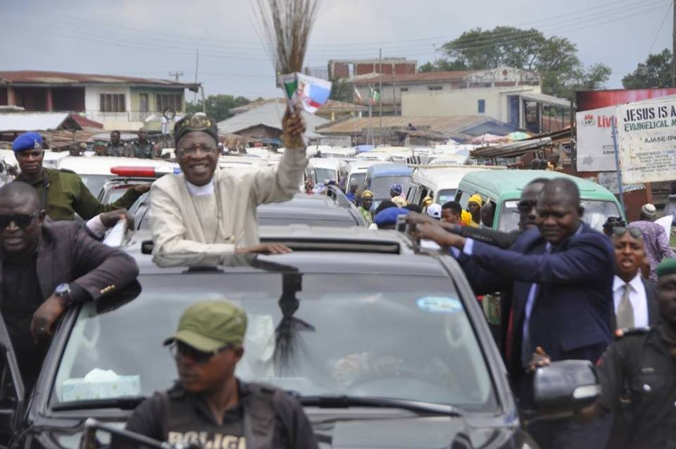 Photos: Lai Mohammed holds massive APC rally in Kwara state