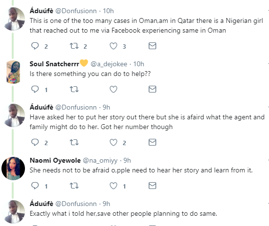 "Nigerian hairdresser cries out for help after a certain ""Brother Tope"" tricked her to seek greener pasture in Oman and has been turned into a slave"
