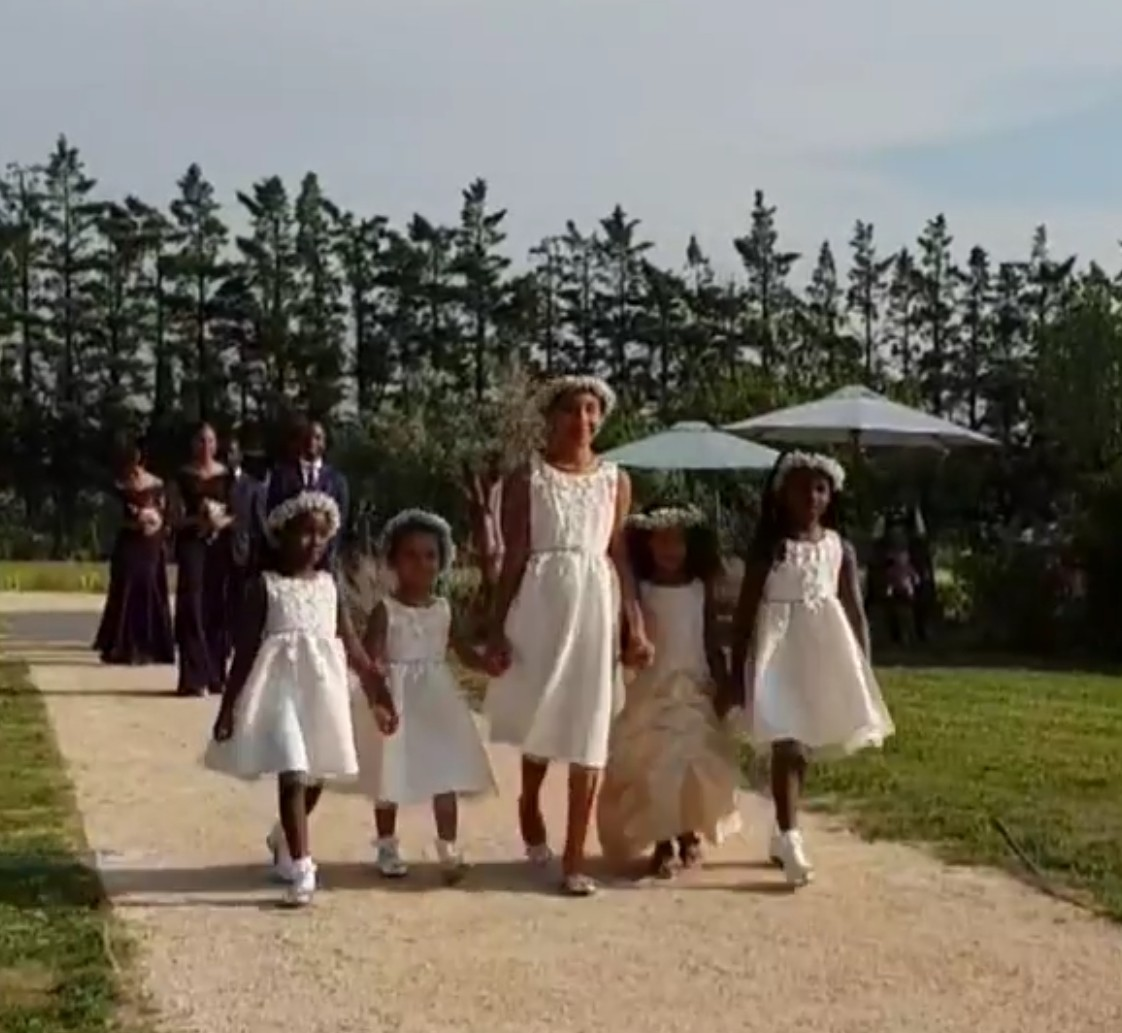 Photos: Billionaire daughter Mairama Indimi & her husband, Mustafa Masango host their white wedding in France