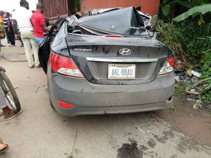 Graphic Photos: Catholic priest?Cosmas Aguocha killed in fatal car crash in Imo State