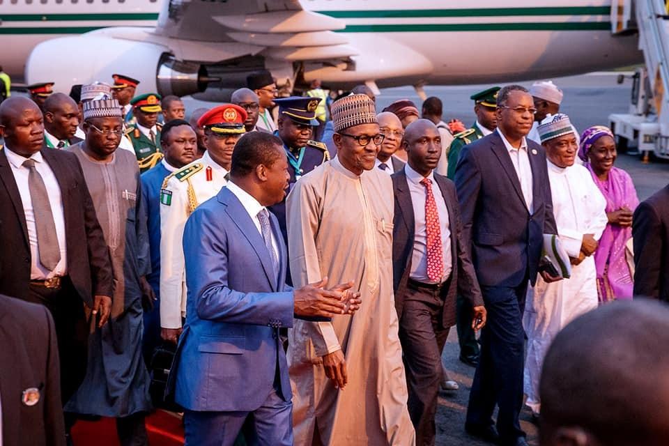 Photos:?President Buhari arrives Togo ahead of ECOWAS-ECCAS Summit