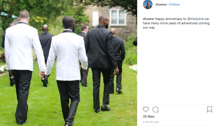 Nigerian gay man, David Ukre, and his husband celebrate their wedding anniversary