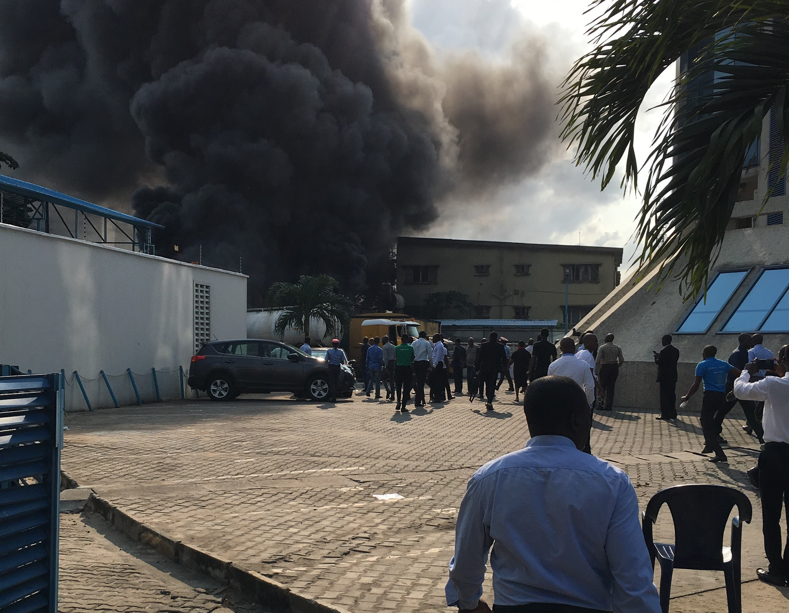 Diesel tanker explosion causes fire outbreak around EcoBank Head Office in Victoria Island
