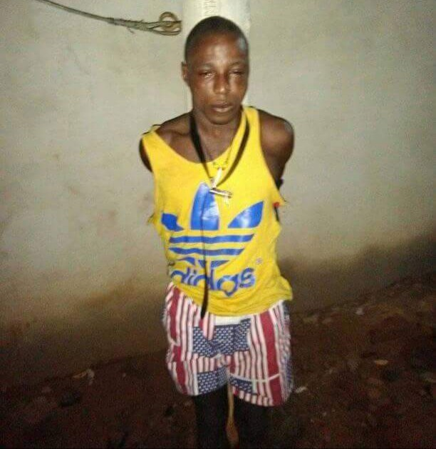 Thief caught stealing phone inside Mosque in Abuja