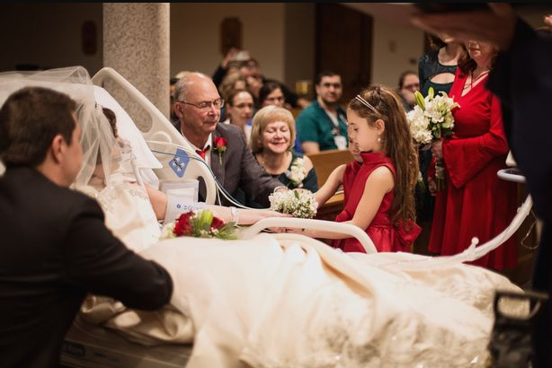 Groom marries his beautiful bride then watches her die 18 hours later