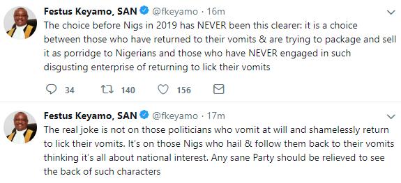 Festus Keyamo reacts to Saraki