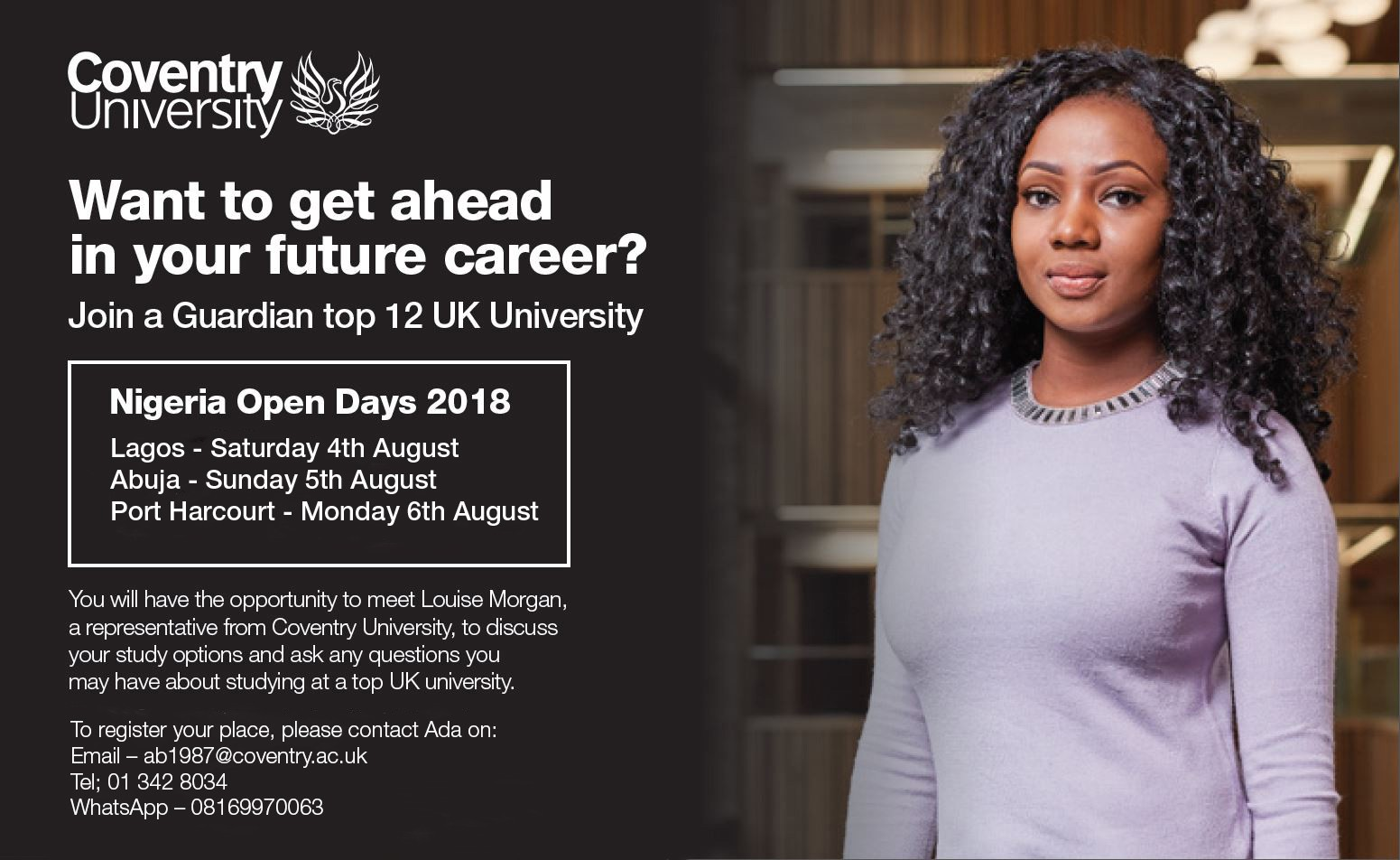 Want to get ahead in your future career? Join Coventry University
