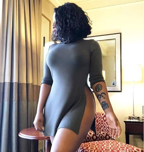 Victoria Kimani shows off her new tattoos with a very sexy photo