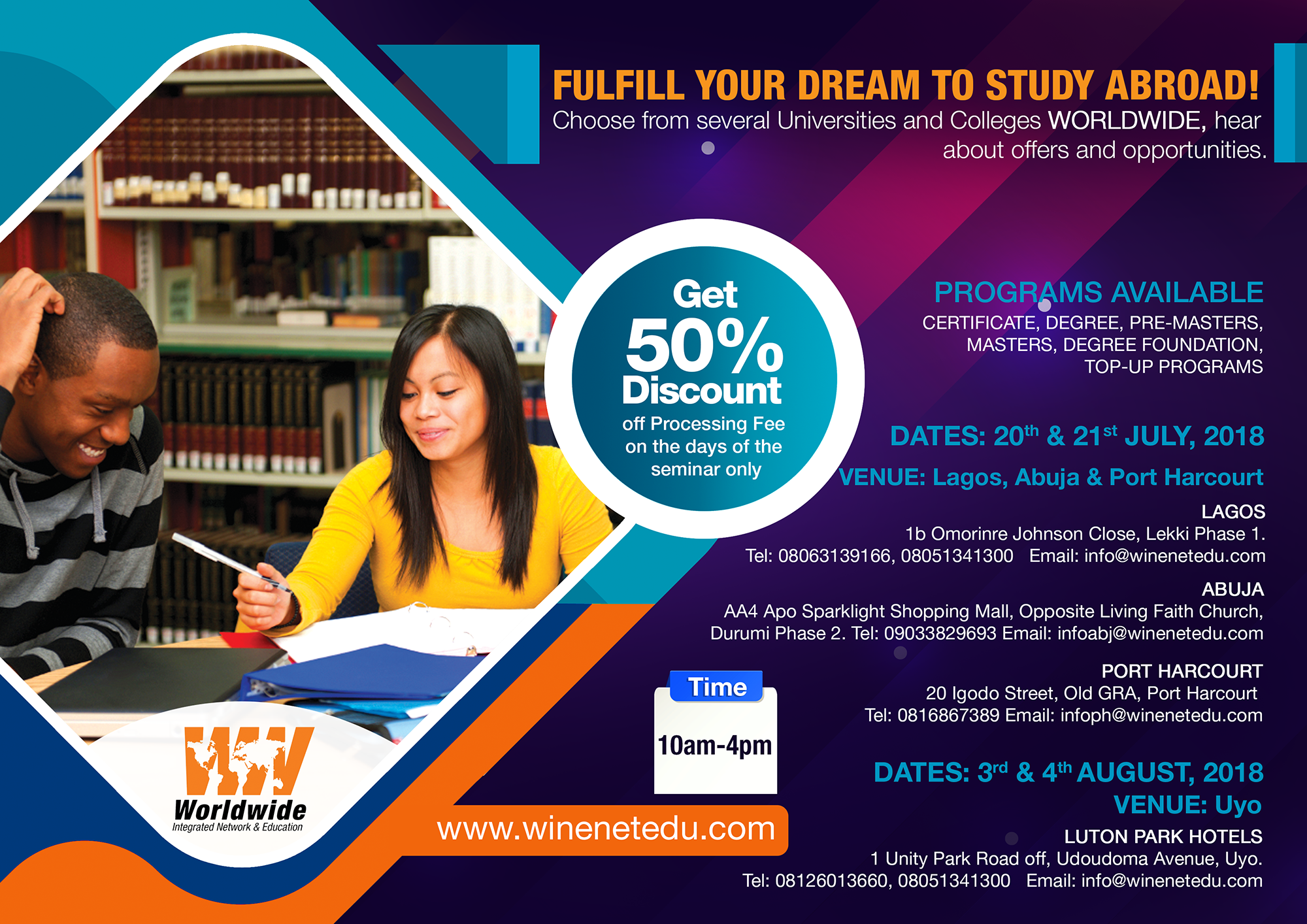 Shape Your Future - Study in Spain, Germany  Switzerland, Cyprus, UK, US  and many others