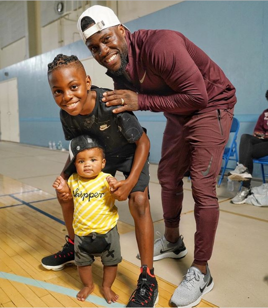 Kevin Hart shares adorable new photo with his sons Hendrix and Kenzo as they strike a pose
