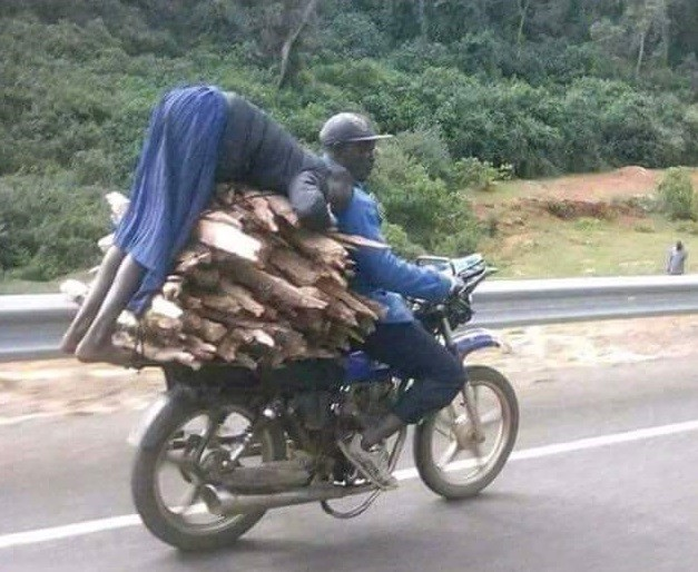 Help comes to Kenyan schoolgirl photographed hanging dangerously on a motorbike carrying firewood