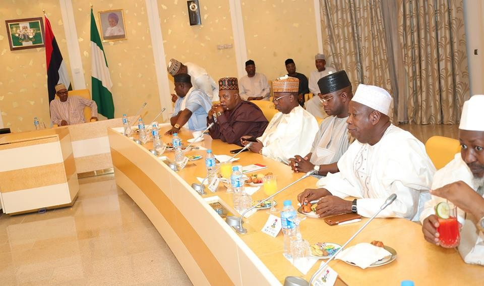 Defections: President Buhari meets with APC Senators and Governors
