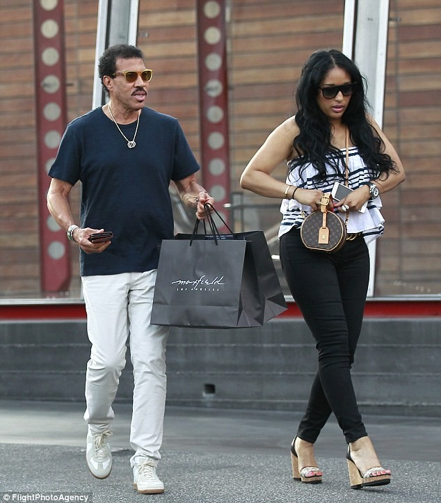 Lionel Richie, 69 makes rare outing with his much younger girlfriend Lisa Parigi as they go shopping in West Hollywood (Photos)