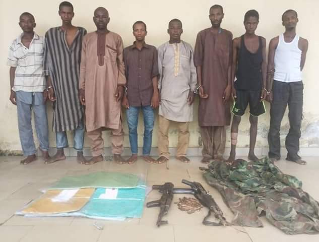 Police parade vicious robbers, kidnappers, responsible for the death of ex- Commissioner, others, along Abuja-Kaduna highway