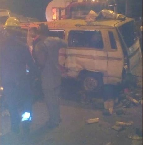 Photos: Six people injured in multiple?accident?involving a trailer, a bus?and a car in Lagos