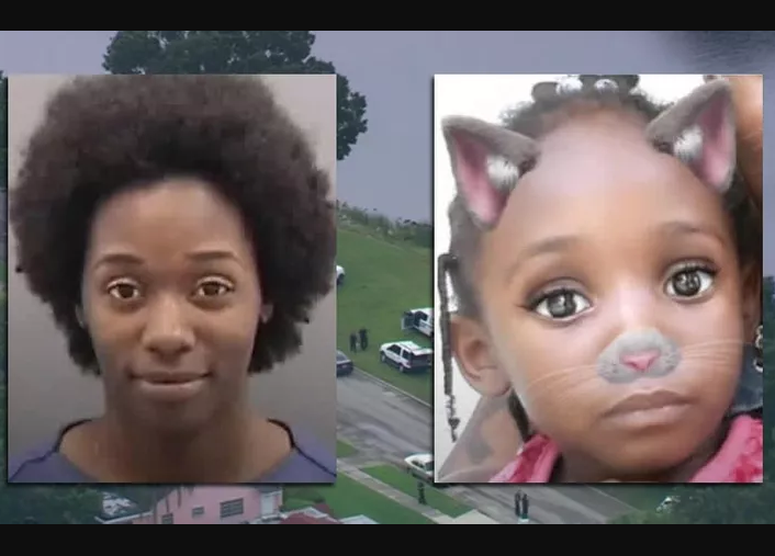 Update: Wicked mom who killed her 4-year-old daughter after tossing her into a river smiles in her Mugshot (Photos)