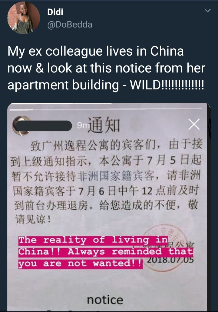 Apartment in China evicts all African residents