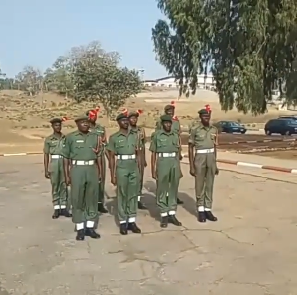 Watch hilarious video of Nigerian soldiers receiving matching orders in Chinese language