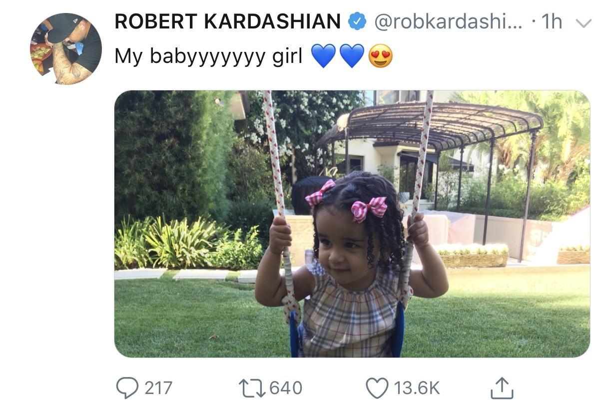 Rob Kardashian shares adorable new photo of his daughter, Dream