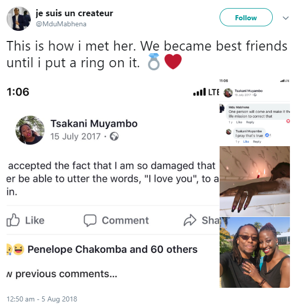 Zimbabwean poet gets engaged to the artist who comforted her after multiple heartbreaks