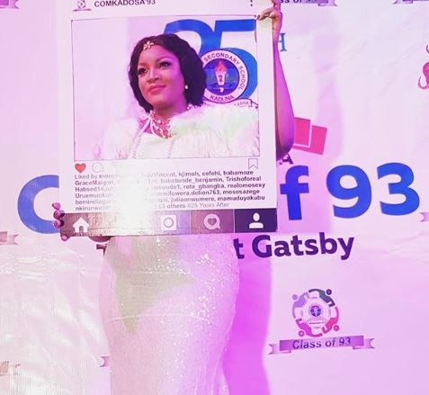 25 years after, Omotola Jalade attends her secondary school reunion party  (Photos)