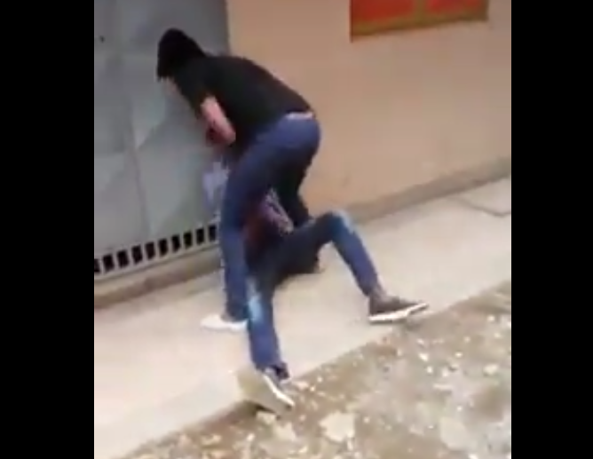 Kenya woman caught on video beating up a man mercilessly over money