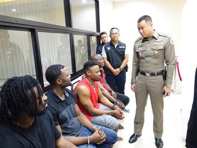 Eight Nigerian men, six other suspects arrested in Thailand for online romance scam