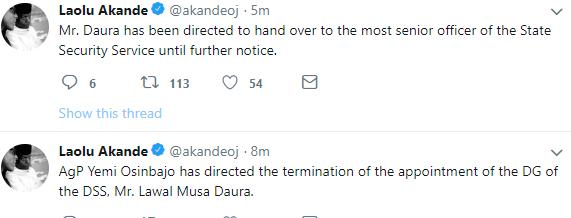 Breaking:  Osinbajo sacks DSS boss over NASS invasion