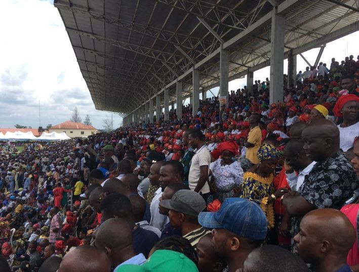 Photos from the APC welcome rally in honour of?Goodswill Akpabio who has just defected from PDP