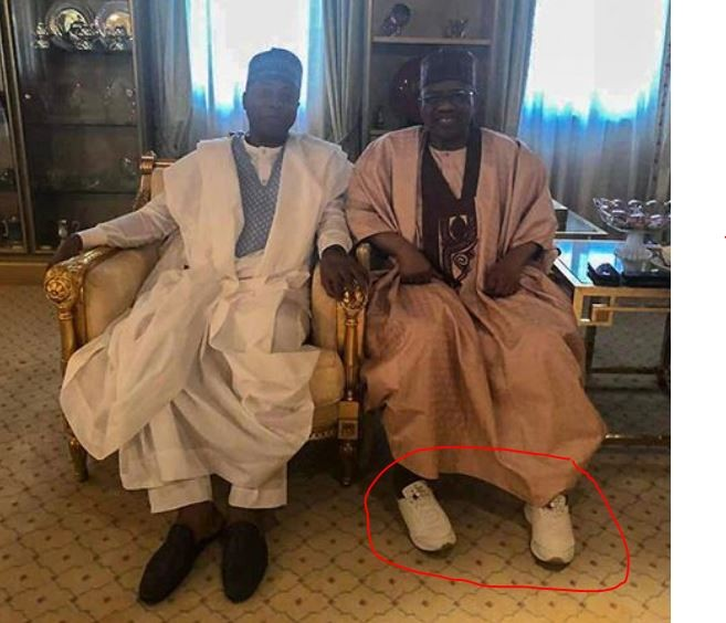 Photo: A closer look at Ibrahim Babangida reveals he rocked a