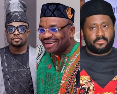 Between Desmond Elliot, Okon Lagos and Akwa Ibom State governor, Udom Emmanuel
