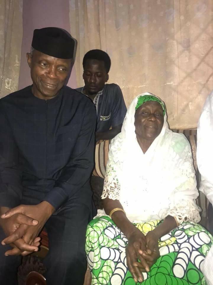 Photos: Acting President Yemi Osinbajo visits President Buhari