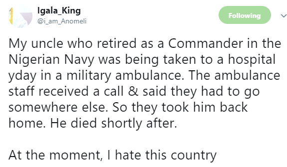 A retired Naval commander was being rushed to the hospital for treatment...what the staff in the military ambulance did will leave you in shock