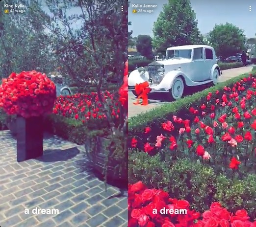 Travis Scott gifts Kylie Jenner a Rolls Royce Silver Wraith from the 1900s for her 21st birthday (photos/video)
