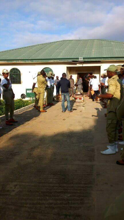 Photos: Bodies of Corps members who drowned in Taraba river, conveyed to their various states for burial