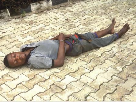 SHOCKING !!!:   '6 days after, kidnapper who slept off after taking 'tramadol' during an operation is still sleeping' – Police