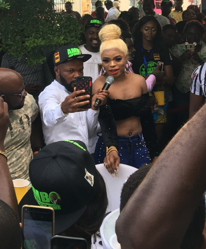 Photos: Bobrisky steps out in cropped top, shows off his midriff