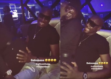 Video: Annie Idibia whines her waist seductively for 2baba as they party together