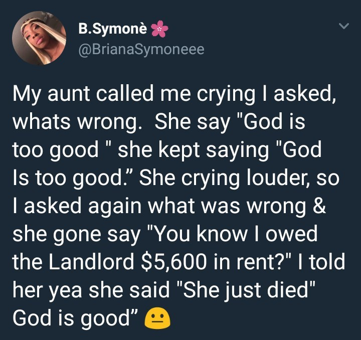 See how a woman owing her landlord reacted after finding out about her death