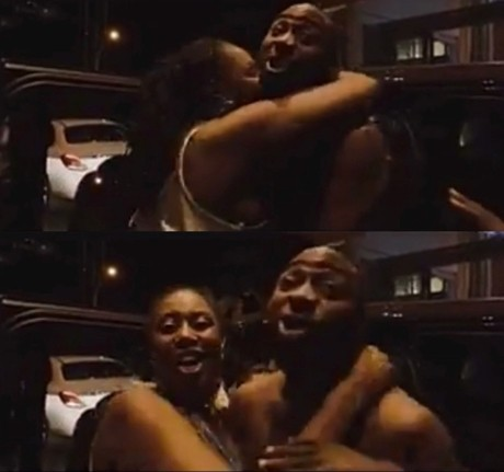 Video: See the hilarious moment Davido shouted out his girlfriend