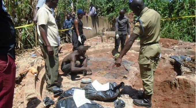 Four witch doctors arrested with pots of human blood and body parts (Photos)