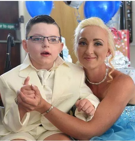 Boy, 7, marries his mother in a lavish ceremony